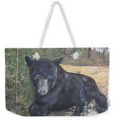 Black Bear - Wildlife Art -scruffy Weekender Tote Bag