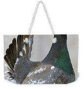Black-billed Capercaillie Displaying Weekender Tote Bag