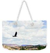 Black Bird In Flight Weekender Tote Bag