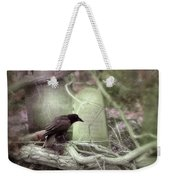 Black Bird In Forgotten Graveyard Weekender Tote Bag