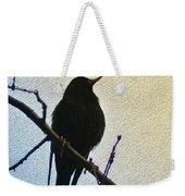 Black Bird Perch Weekender Tote Bag