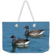 Black Brant Pair Swimming Weekender Tote Bag