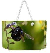 Black Bumblebee Weekender Tote Bag
