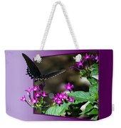 Black Butterfly 07 Weekender Tote Bag
