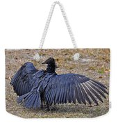 Black Buzzard Back Weekender Tote Bag