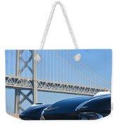 Black Cadillac In San Francisco Weekender Tote Bag