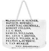 Black Candidates, C1835 Weekender Tote Bag