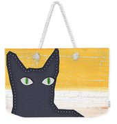 Black Cat Crossing Weekender Tote Bag