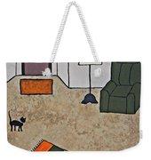 Essence Of Home - Black Cat In Living Room Weekender Tote Bag