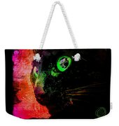 Black Cat Neon Weekender Tote Bag