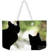 Black Cat Silhouettes Weekender Tote Bag