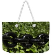 Black Chain Weekender Tote Bag