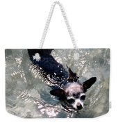 Black Chihuahua Dog Its You That Makes The Mountains And Rivers More Beautiful. Weekender Tote Bag