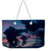 Black Clouds Against Sunset Weekender Tote Bag