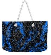 Black Cracks With Blue Weekender Tote Bag