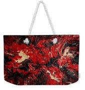 Black Cracks With Red Weekender Tote Bag