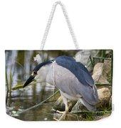 Black-crown Heron Going Fishing Weekender Tote Bag