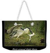Black-crowned Night Heron At Martin Lake Weekender Tote Bag