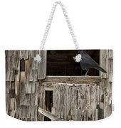 Black Crows At The Old Barn Weekender Tote Bag
