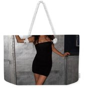 Black Dress Woman Weekender Tote Bag