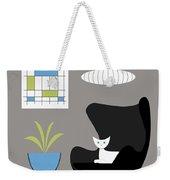 Black Egg Chair Weekender Tote Bag