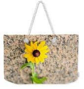 Black-eyed Susan Flower On A Gneiss Rock Weekender Tote Bag