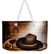 Black Felt Cowboy Hat Weekender Tote Bag