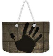 Black Hand Sepia Weekender Tote Bag