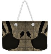 Black Hands Sepia Weekender Tote Bag
