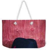 Black Hat On Red Velvet Chair Weekender Tote Bag