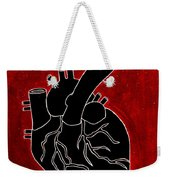 Black Heart Weekender Tote Bag