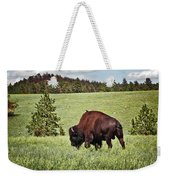 Black Hills Bull Bison Weekender Tote Bag by Robert Frederick