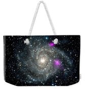 Black Holes In Spiral Galaxy Nasa Weekender Tote Bag by Rose Santuci-Sofranko