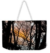 Black Ink Light  Weekender Tote Bag