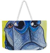 Black Lab Nose Weekender Tote Bag by Roger Wedegis