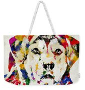 Black Lab Watercolor Art Weekender Tote Bag
