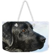 Black Labrador Retriever After The Swim Weekender Tote Bag