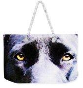 Black Labrador Retriever Dog Art - Lab Eyes Weekender Tote Bag by Sharon Cummings