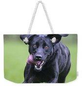 Black Labrador Running Weekender Tote Bag