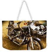Black Motorcycle  Weekender Tote Bag
