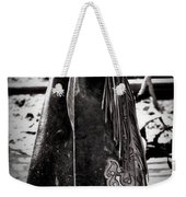 Black N White Chaps Weekender Tote Bag