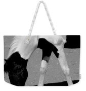 Black N White Horse Weekender Tote Bag