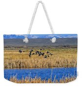 Black-necked Stilts In Flight Weekender Tote Bag