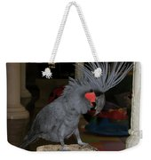 Black Palm Cockatoo Weekender Tote Bag