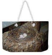 Black Phoebe Nest With Eggs Weekender Tote Bag