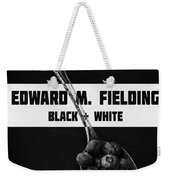 Black Plus White Book Cover Weekender Tote Bag