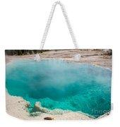 Black Pool In West Thumb Geyser Basin In Yellowstone National Park Weekender Tote Bag