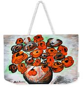 Black Poppies Weekender Tote Bag by Ramona Matei