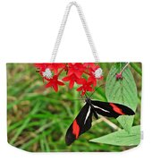 Black Red And White Butterfly Weekender Tote Bag