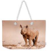 Black Rhinoceros Baby Weekender Tote Bag
